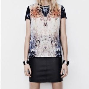 All Saints Wither Silk Top